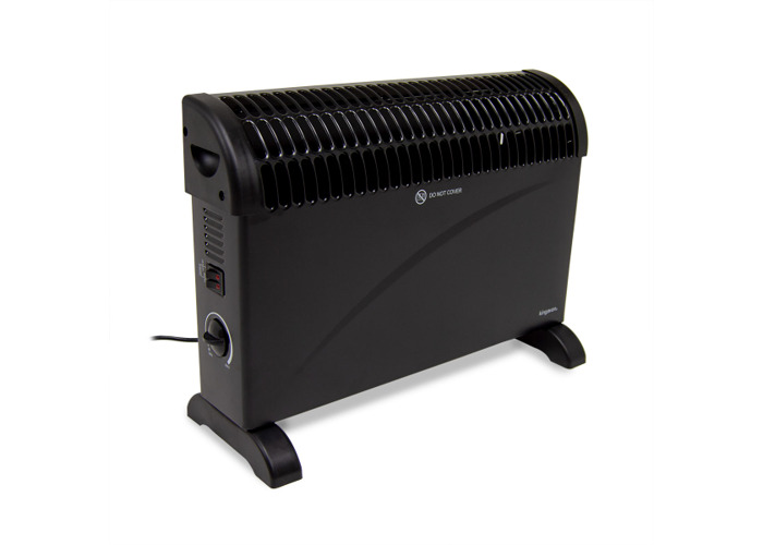 2kW Convector Heater with Thermostat - Black - 1