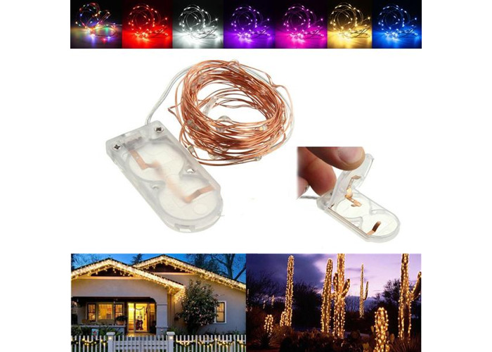2M Waterproof LED Battery Mini LED Copper Wire Fairy String Light HoliDay Light Party Christmas - 1