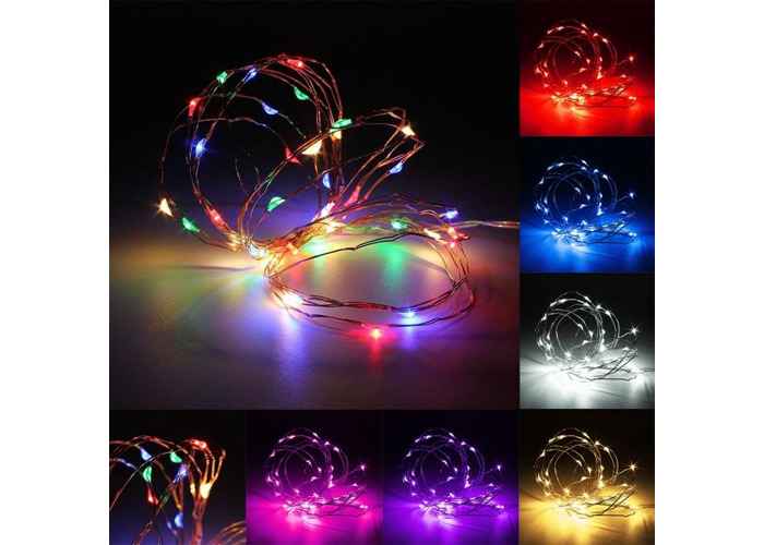 2M Waterproof LED Battery Mini LED Copper Wire Fairy String Light HoliDay Light Party Christmas - 2