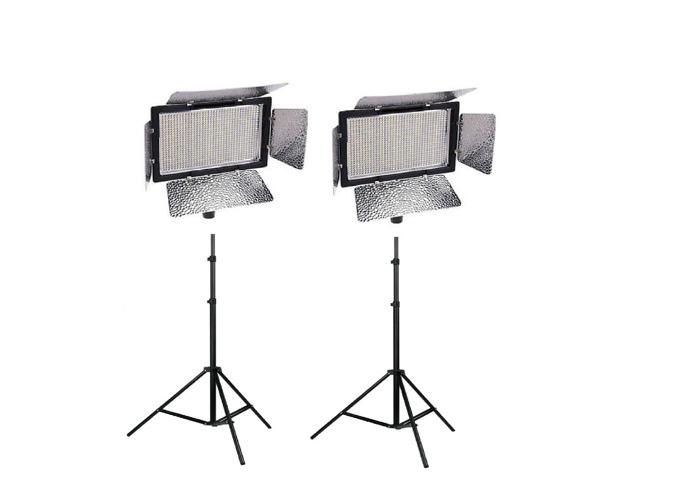 2x 900 LED light Panel YONGNUO YN900 Battery wifi - 1