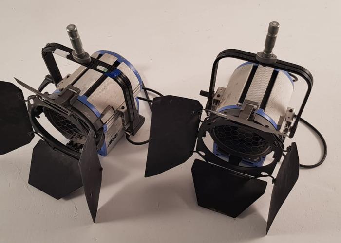 2x Arri 2K 2000w Watt Fresnel T2 Light Tungsten - 1