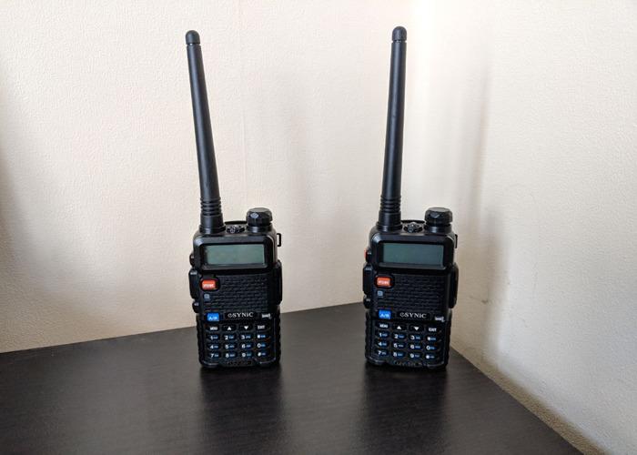 2x Baofeng UV-5R Walkie Talkie Radio - 2