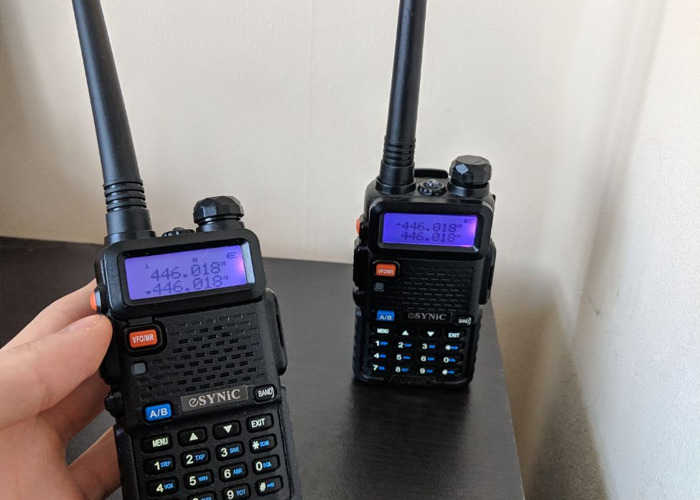 2x Baofeng UV-5R Walkie Talkie Radio - 1