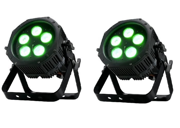 Uplight con pilas 2x | Luz de lavado | WiFly DMX | IP65 | Luz de escenario | DJ Light | Luz del partido | Luz profesional | Luz de evento | Exterior, interior, impermeable - 1