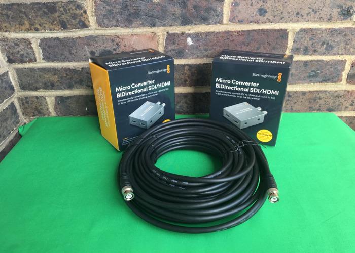 2x HDMI to SDI / SDI to HDMI converter with 15m SDI cable - 1