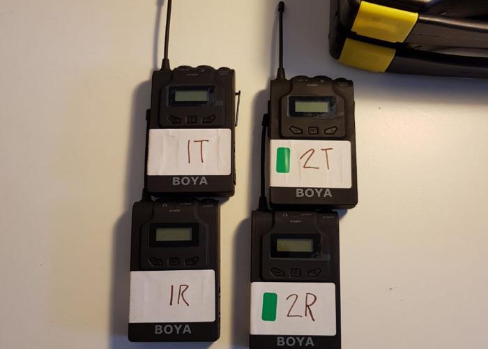2x BOYA Wireless Lapel Microphone kit  - 1