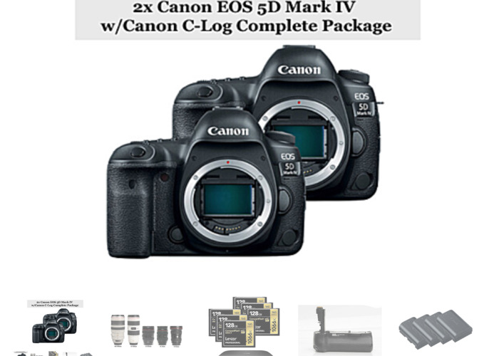 2x Canon 5D Mark IV Complete Package - 1