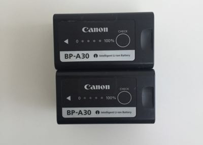 2x Canon BP-A30 Batteries + Charger - 2