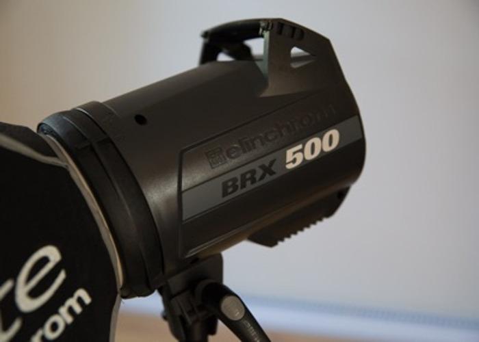 2x Elinchrom BRX 500 studio flashes - 1