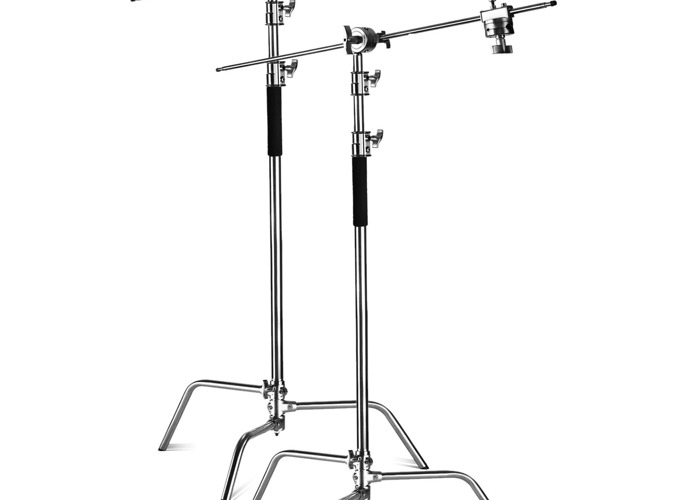 2x Heavy Duty C stand Flag Stand 3m +flag arm 1.2m +knuckles - 1