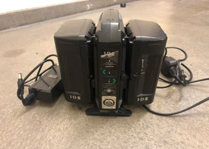 2x IDV V LOCK 91W Batteries + DTAP +  Charger - 1