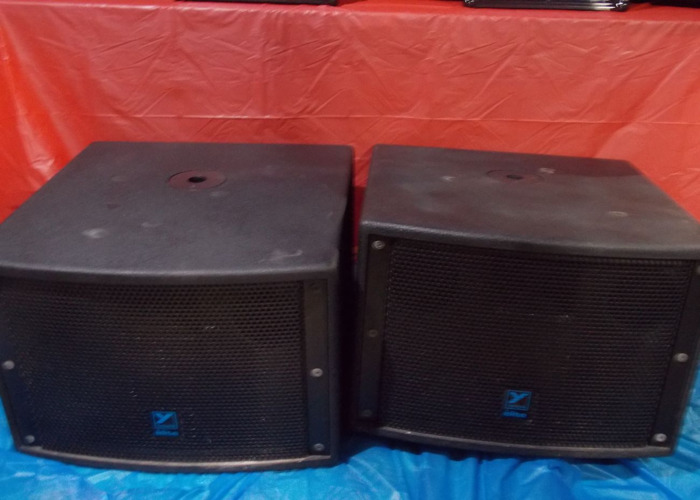 2X LS700 (2400) PEAK WATTS YORKVILLE SUBWOOFERS WITH DBX PA2 DRIVERACK - 2