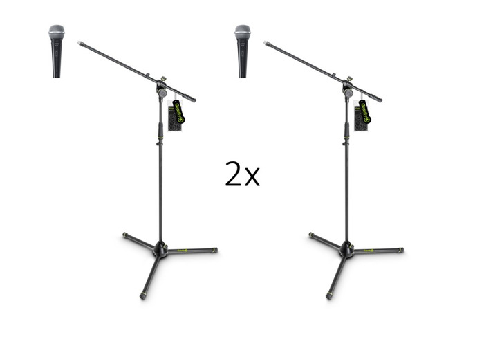 2x Mics and Stands - 1