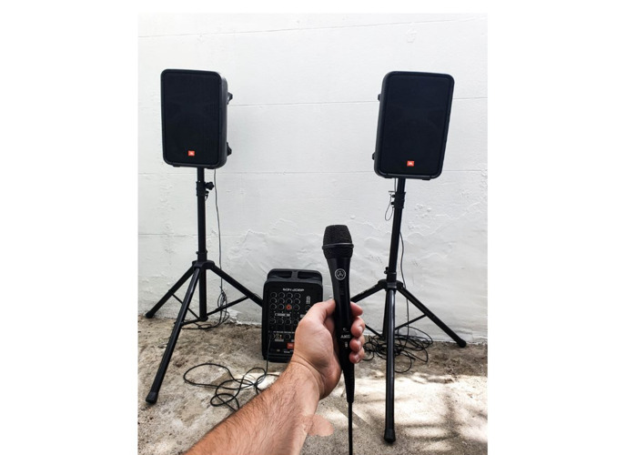 2x PA Speakers 600W - Portable Bluetooth  - 1