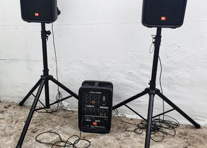 2x PA Speakers 600W - Portable Bluetooth  - 2