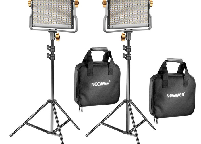 2x Packs LED Light Panel Bi-colour / Dimmable Video Shooting Light Kit - 1