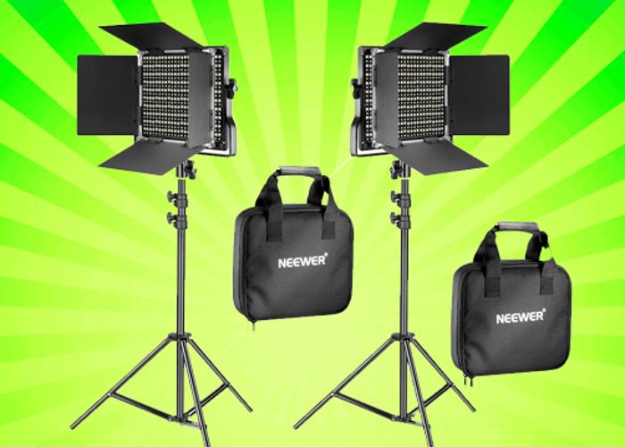 2x Portable Continuous Lights LED 660 Bi-color Video / Film - 1