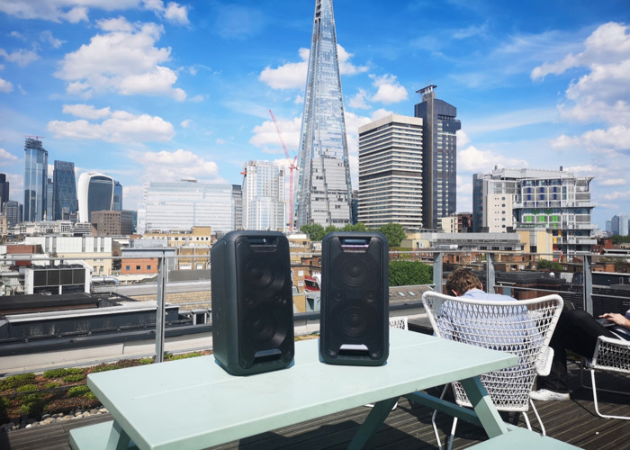 2X PORTABLE SPEAKERS! [OUTDOOR &INDOOR USE] 14hr BATTERY LIFE  - 1