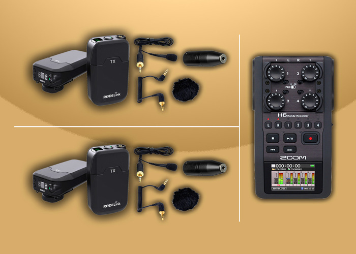 2x Radio Lav Mics -  RODE Filmmaker Lapel Kits & Zoom H6 Kit - 1