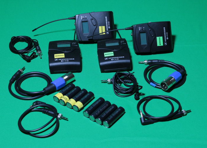 2x Sennheiser G3 Wireless Lapel Microphone kit in PELI cases - 1