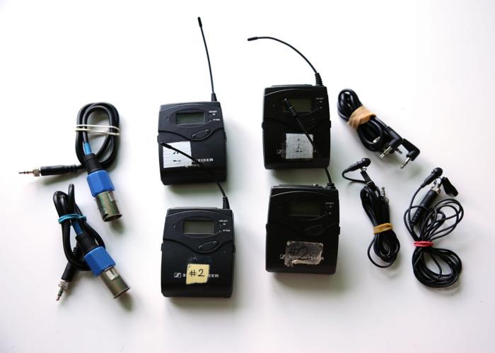 2x Sennheiser SK100 G3 Wireless Lapel Microphone Kit - 1
