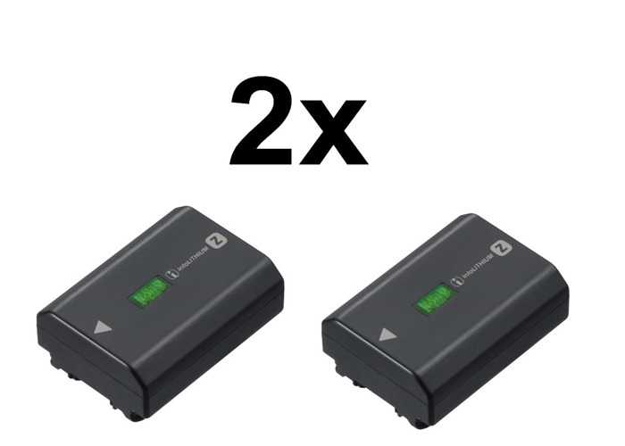 2x Sony NPFZ100.CE Z Series Rechargeable Battery Pack - 1
