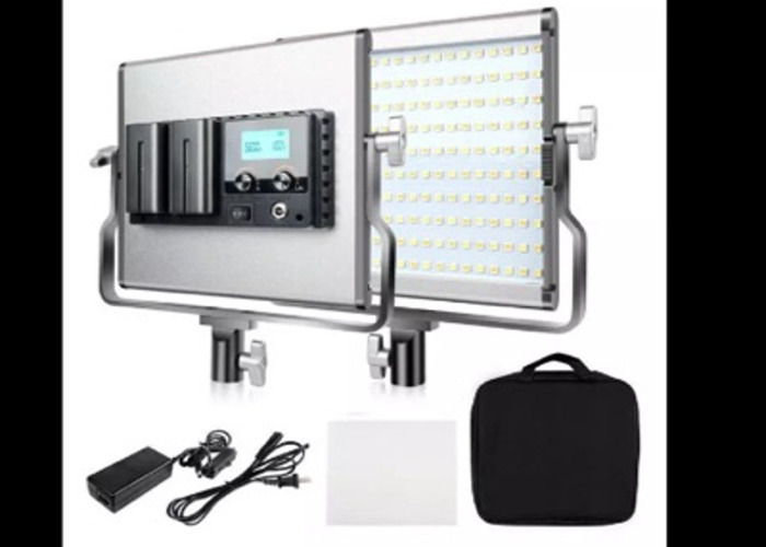 2x Video lights, dimable led, variable colour  - 1