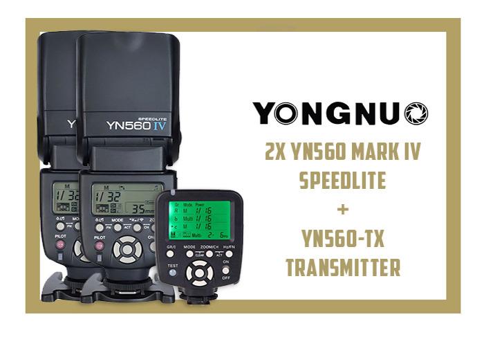 2X YONGNUO YN560 IV SPEEDLITES FLASH & YN560-TX TRANSMITTER - 1