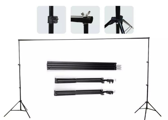 2x3m Photography Studio Background Backdrop Support System - 1