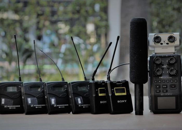 3 Lavs (G3), One Boom (Audio Technica), & H6 Zoom - 1