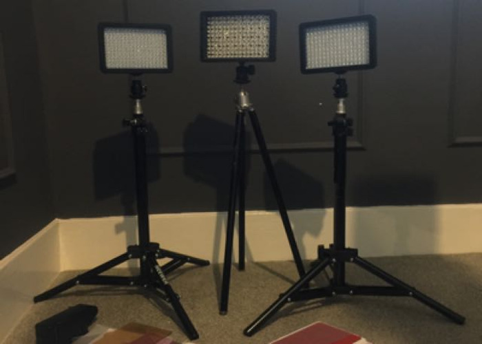 3 Light Kit For Filming And Photography LED With Stands - 1