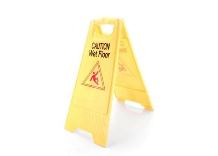 3 Pack Caution Wet Floor Health And Safety Sign Plastic - 1