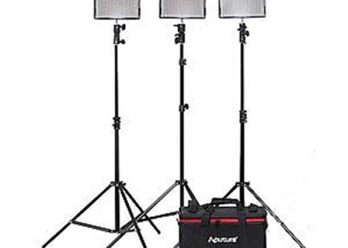 3 x Aputure Amaran 528 LED light kit - 1