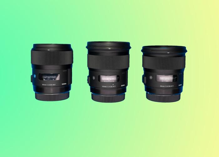 3 x Lens Sigma Art Set (24mm F1.4, 35mm F1.4, 50mm F1.4 Canon EF Mount) - 1