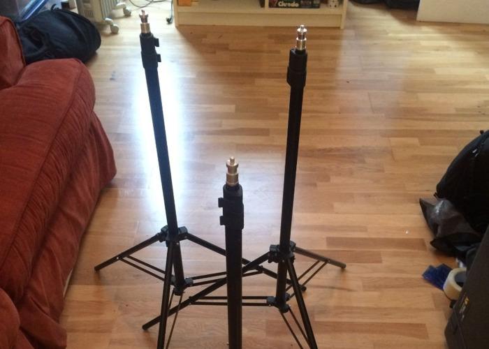 3 x Lightweight Light Stands - 1
