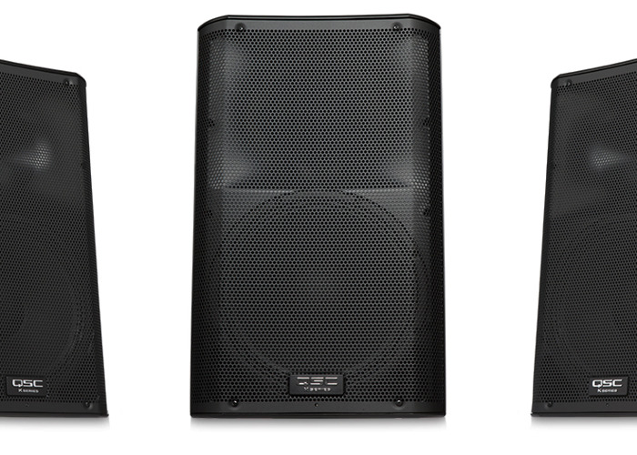 PA Speakers - Active 3 x QSC K12 Active Speakers + Stands - 1