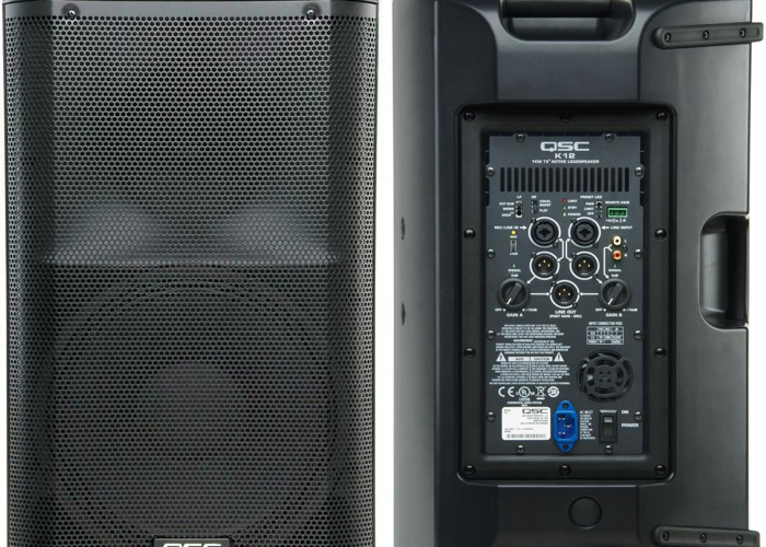 PA Speakers - Active 3 x QSC K12 Active Speakers + Stands - 2