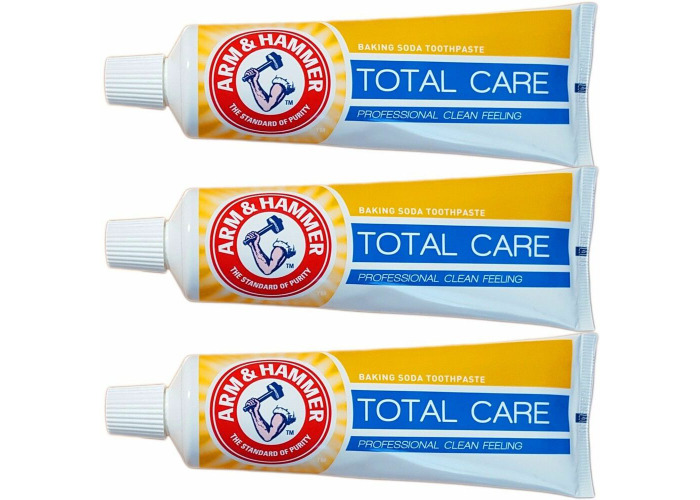 3 x Tubes of Arm & Hammer CAVITY CARE Baking Soda Toothpaste 125g - 1