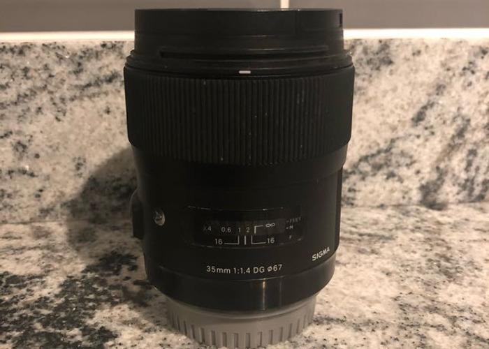 35mm 1.4 sigma Art lens for Canon - 2