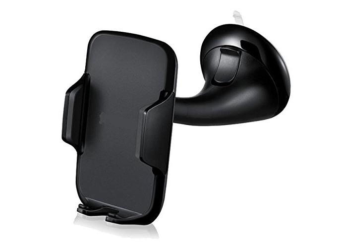 360 Degree Rotation Universal Car Windshield Swivel Mount Holder Bracket for Smartphone - Black - 1