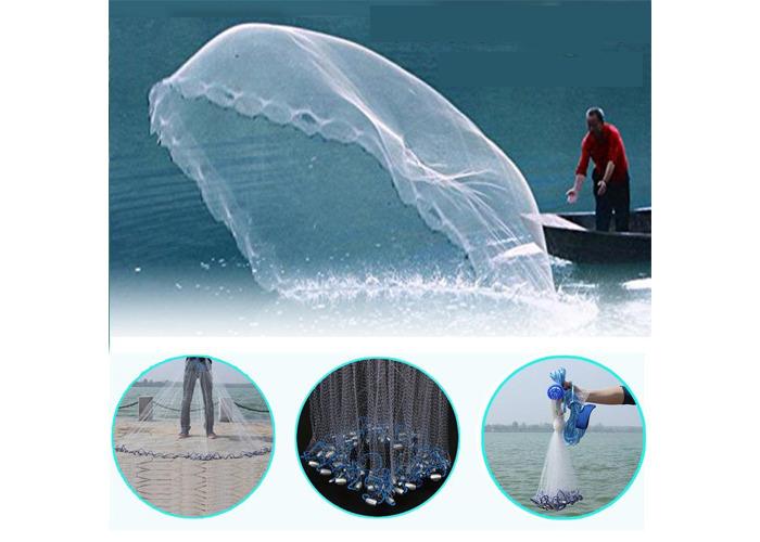 3m 4.2m 5.4m 6.6m Hand Cast Fishing Net Spin Network Bait Fish Net Sinker - 2