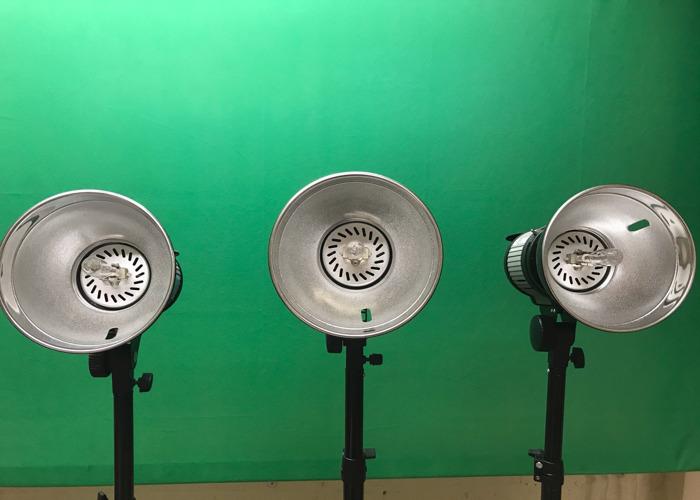 3x 1000w video lights - film lighting -photography lighting - 1