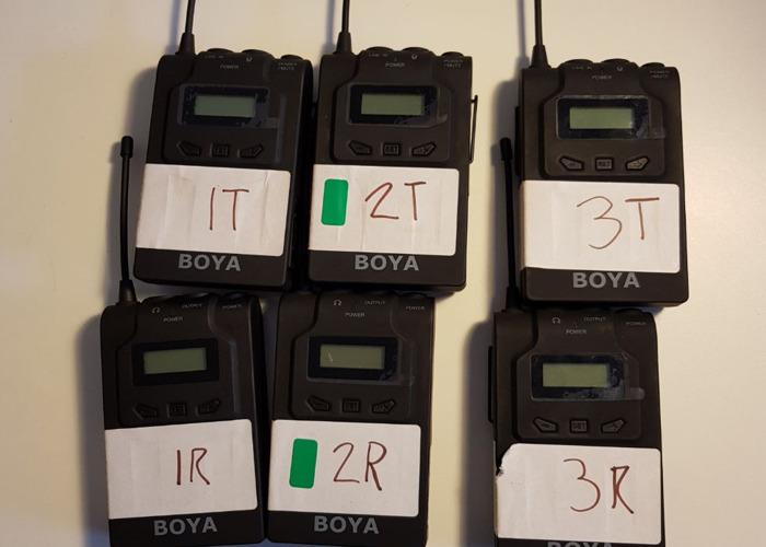 Rent 3x Boya Wireless Lapel Microphone Kit In London Rent For