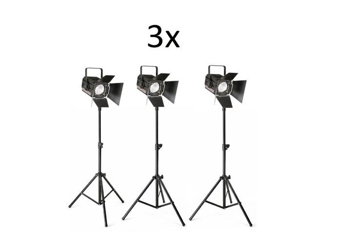 3x Fresnel Lights 650w - Film Lights - Spotlights - 1