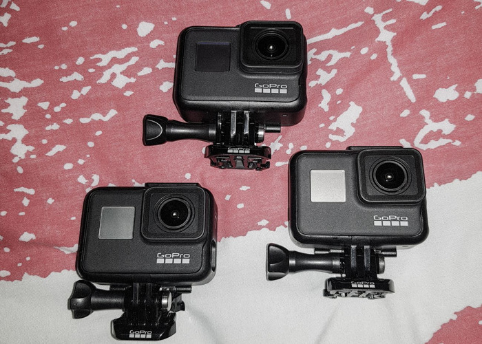 3x GoPro HERO 7 Black CHDHX-701-RW Action Camera - 1