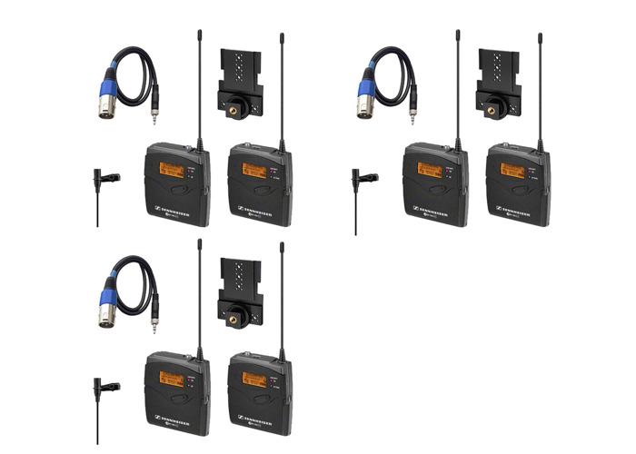 3x Sennheiser EW 112P G3 Radio Mic Sets - 1