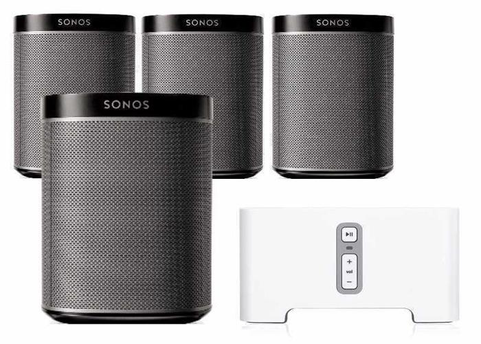 3x Sonos Play 1 Speakers, Sonos Connect, Sonos Beam & Sonos Bridge - 1