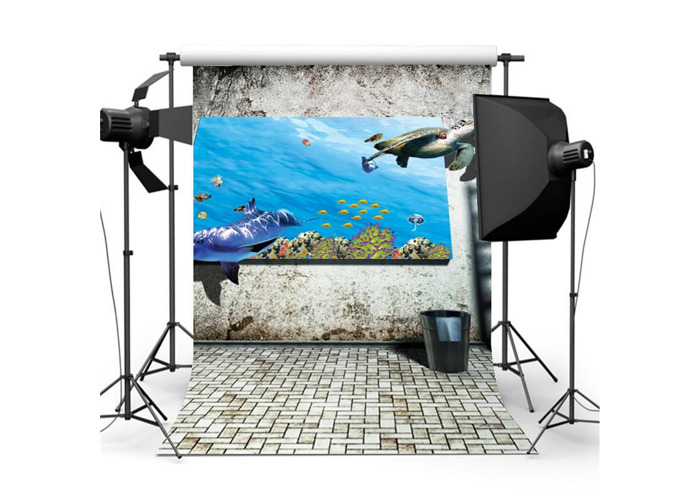 3x5FT 5x7FT Retro Wall Sea Poster Photography Backdrop Background Studio Prop - 2