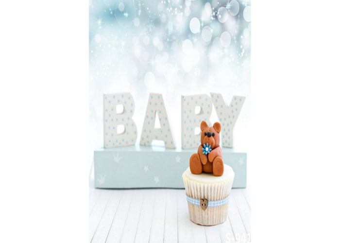 3x5FT Newborns Baby & Teddy Bear Photography Backdrop Studio Prop Background - 2