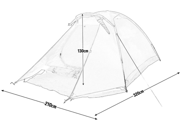 4 Man 1 Room Dome Tent - 2
